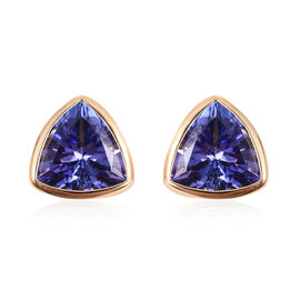 ILIANA 18K Yellow Gold AAA Tanzanite Stud Earrings (with Screw Back) 0.84 Ct.