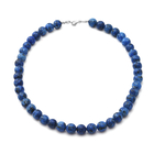 Dumortierite Beads Necklace (Size 18) in Sterling Silver 306.00 Ct.