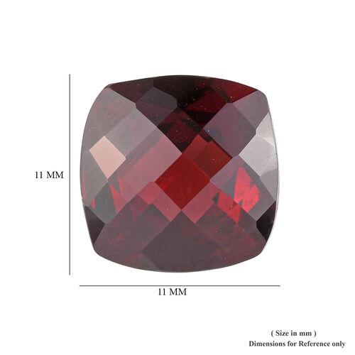 AAA Rhodolite Garnet Cushion 11x11 Checkerboard 6.20 Cts