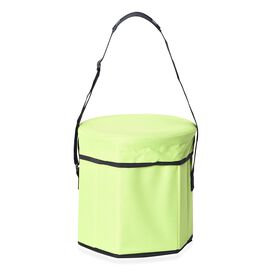 All Season Foldable Multi-Function Thermal Storage Stool Box - Green (Size 30x30x30Cm)