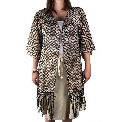 Multi Colour Printed Kimono (Size 80x50 Cm)