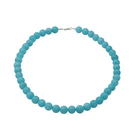 Amazonite Quartz Beads Necklace (Size 18) in Sterling Silver 300.00 ct.