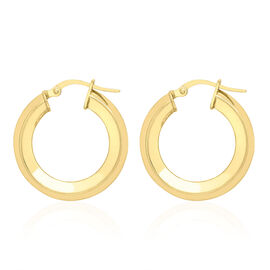 JCK Vegas Collection 9K Yellow Gold Hoop Earrings (with Clasp), Gold wt 1.70 Gms.