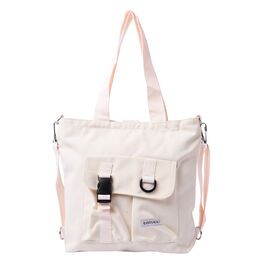PASSAGE Off-White Colour 3-in-1 Tote Bag with Multiple Pockets(33x8x29cm)