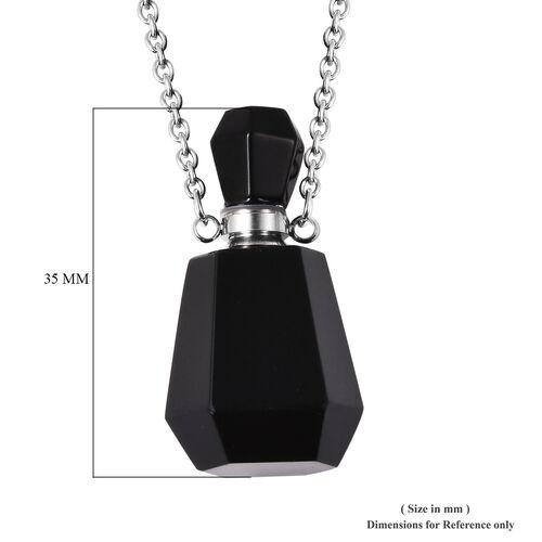 Black Obsidian Love Potion Necklace (Size 18) TCW 43.00 Ct.