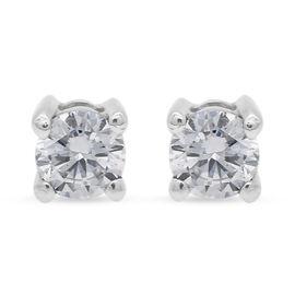 RHAPSODY 950 Platinum SGL Certified Diamond (VS/E-F) Stud Earrings (with Screw Back) 0.200 Ct.