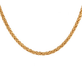Italian Made - 22K Yellow Gold Spiga Chain (Size 24), Gold Wt. 9.32 Gms