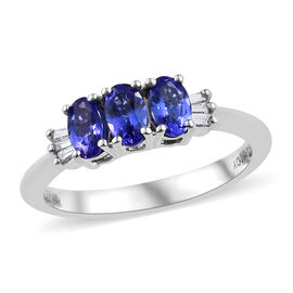 RHAPSODY AAAA Tanzanite (Ovl 0.650 Ct) Diamond (VS/E-F) Ring 0.700 Ct.