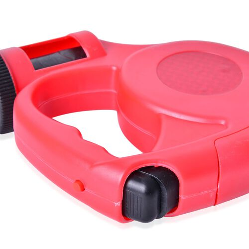Pet Accessories- Red and Black Colour Retractable LED Leash with Blue and White Colour Water Bottle and Plastic Bag