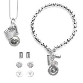 Mothers Day Gift Idea -  3 Earring, 1 Stretchable Bracelet (Size 7.5) and Pendant with Chain (Size 2