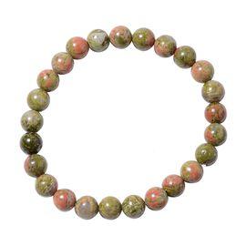 Unakite (118.50 Ct) Bracelet (Size 7.5)  118.500  Ct.