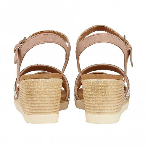 Lotus Lilou Wedge Sandals (Size 4) - Pink