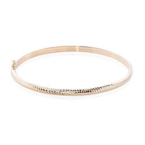 Diamond Cut Bangle in 9K Gold 7.5 Inch