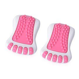 Portable Vibrating Foot Massager Set (Size 15.5x10.5x6.5 Cm)  - Pink