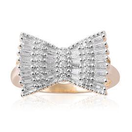 9K Yellow Gold SGL CERTIFIED Diamond (Bgt) (I3 / G-H) Ring 0.500 Ct.