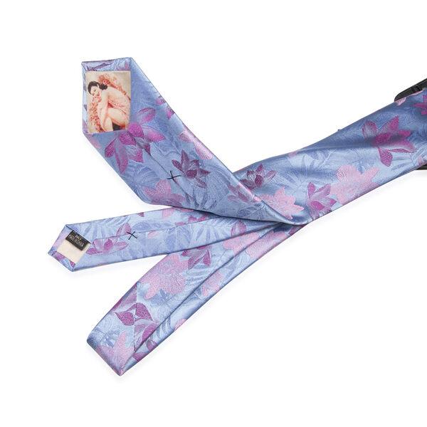 William Hunt - Silk Flower Tie - Light Blue