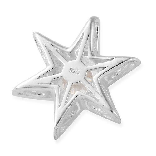 J Francis - Sterling Silver (Rnd) Star Pendant Made With SWAROVSKI ZIRCONIA