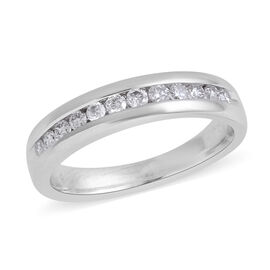 14K White Gold Diamond (Rnd) (I2-I3/H) Band Ring 0.252 Ct.