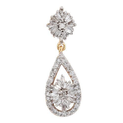 Diamond (Rnd) Pendant in 14K Gold Overlay Sterling Silver