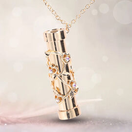 Multi Colour Austrian Crystal Kaleidoscope Pendant with Chain (Size 32 with Extender) in Yellow Gold