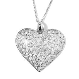 Artisan Crafted Polki Diamond Pendant with Chain (Size 18) in Platinum Overlay Sterling Silver 2.00