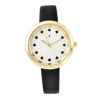 STRADA Japanese Movement Sunburst Effect Dial Water Resistant Watch with Black Colour Strap