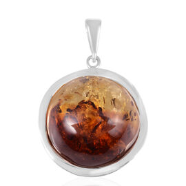 Baltic Amber (Rnd) Pendant in Sterling Silver