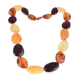 24 Inch Multi Colour Baltic Amber Beaded Necklace 250 Ct