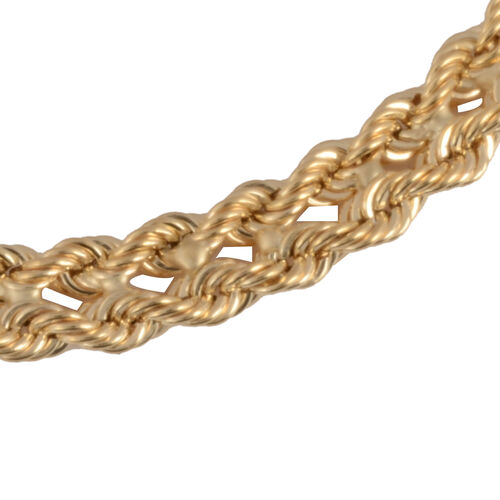 Vicenza Collection 9K Yellow Gold Double Row Rope Necklace (Size 18) with Lobster Clasp, Gold wt 4.40 Gms.