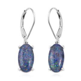 Australian Boulder Opal (Ovl 13x7 mm) Lever Back Earrings in Sterling Silver