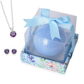 Last Stock - Collect Them All - Surprise Bath Bomb Blue with Pendant and Earrings Set inside