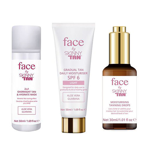 Skinny Tan Face Tanning Drops, Overnight Mask and Gradual Tan SPF6 Light