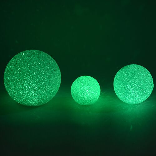 LED Decorative Christmas Globe Light Set (Sizes - 15CM, 10 CM and 8 CM) -  Multi