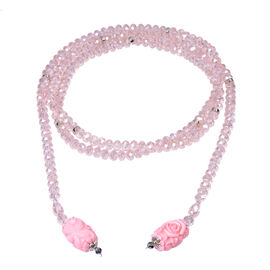 Monster Deal - Pink Shell Pearl and Multi Gemstone Necklace (Size 60)