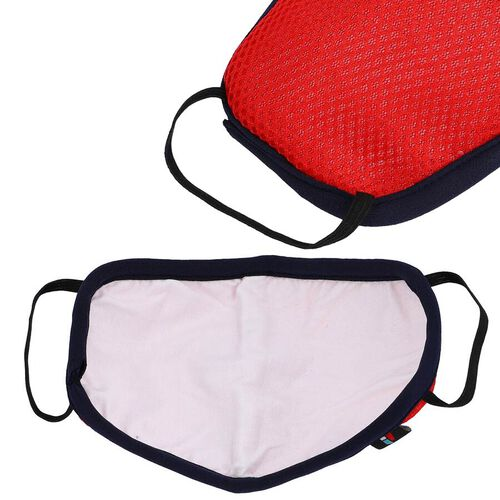 6 Layer Washable Anti Dust Face Covering - Red