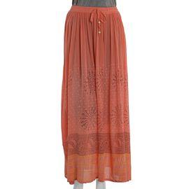 Orange Colour One Size Skirt (Size 100x76 Cm)