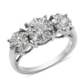 New York Close Out Deal - 14K White Gold Diamond (I1/G-H) Ring 1.00 Ct.