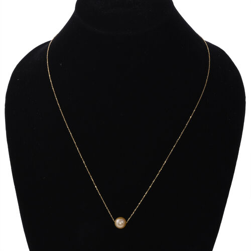 NY Close Out ILIANA 18K Yellow Gold Golden South Sea Pearl Necklace (Size 20)