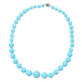 Sleeping Beauty Colour Shell Pearl (Rnd 8-16 mm) Graduated Necklace (Size 20) with Magnetic Clasp in