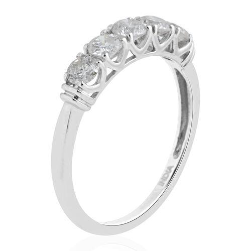 New York Close Out - 14K White Gold Diamond (Rnd) (I1-I2/G-H) Ring 0.750 Ct.