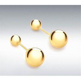 9K Yellow Gold Reversible Ball Stud Earrings, Gold wt 2.55 Gms