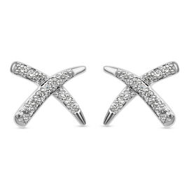RACHEL GALLEY 14K White Gold SGL Certified Diamond (SI/G-H) Stud Earrings 0.18 Ct.