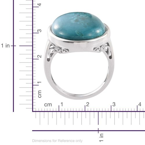 Natural Rare Opalina (Ovl) Ring in Platinum Overlay Sterling Silver 18.500 Ct.