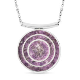 Amethyst Necklace (Size - 20) in Stainless Steel 12.65 Ct.