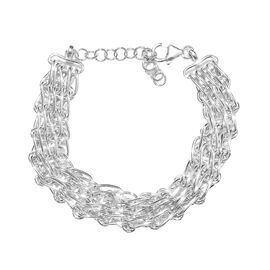 Close Out Deal Statement Bracelet in Sterling Silver 31.85 Grams 7.5 With 1.5 Inch Extender