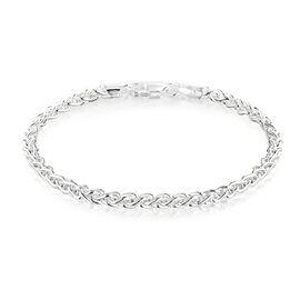 Sterling Silver Spiga Bracelet (Size 7.25), Silver wt 6.20 Gms.