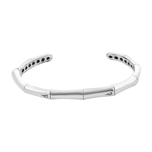 Royal Bali Collection - Sterling Silver Cuff Bangle (Size 7.5), Silver wt. 22.50 Gms