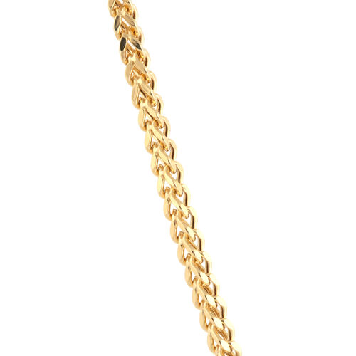 9K Yellow Gold Square Franco Chain (Size 18), Gold wt.3.92 Gms