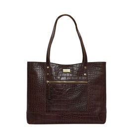 Assots London HELENE - 100% Genuine Leather Handbag (35x10x28) - Brown