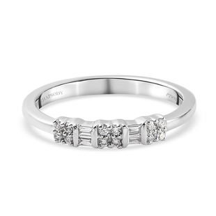 RHAPSODY 950 Platinum IGI Certified Natural Diamond (VS/E-F) Band Ring 0.15 Ct.